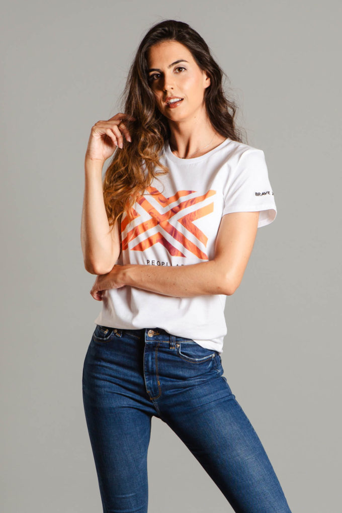 T-Shirt MC de la marca BRAVE JUNGLE Blanco