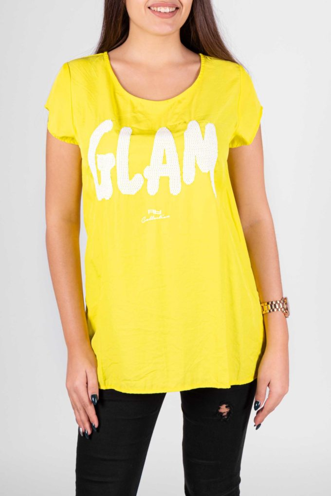 Camisa de la marca Artigli Amarillo