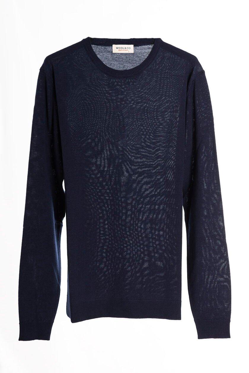 Suéter de la marca Woolgroup Azul Marino