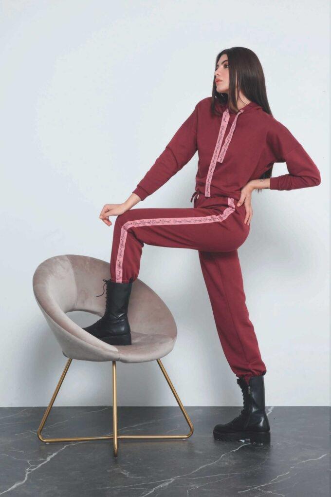Pantalón de la marca QGuapa Milano Granate