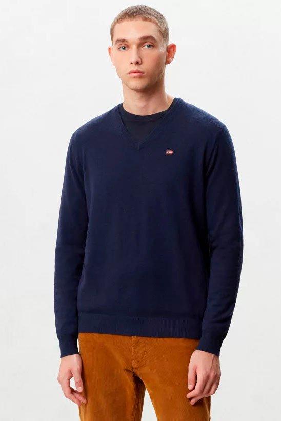 Suéter de la marca Napapijri Azul Marino